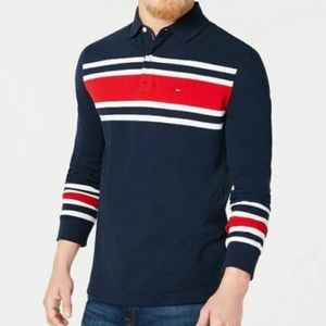 Tommy Hilfiger NAVY Lewiston Long Sleeve Polo